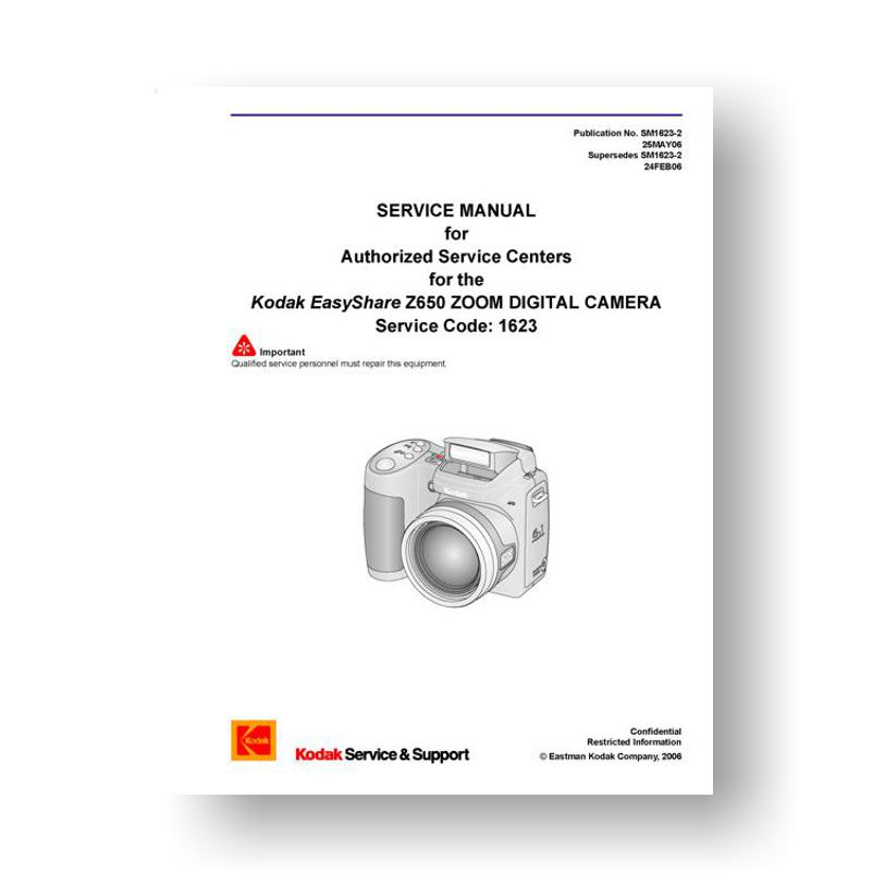 kodak easyshare z650 service manual parts list download rh uscamera com kodak easyshare z650 manuel d'utilisation kodak easyshare z650 manual español