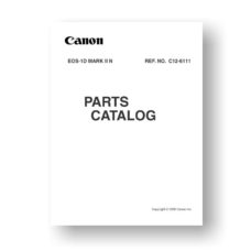 Canon EOS 1D Mark II N Parts List Download