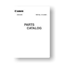 Canon EOS 20D Parts List Download