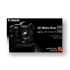 Canon AE Motor Drive FN Owners Manual Download