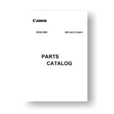 37-page PDF 971 KB download for the Canon C12-6011 Parts Catalog | EOS D60