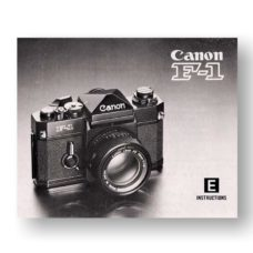 Canon F1 F1n (Old) Owners Manual Download