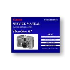 Canon PowerShot G1 Service Manual Parts List Download