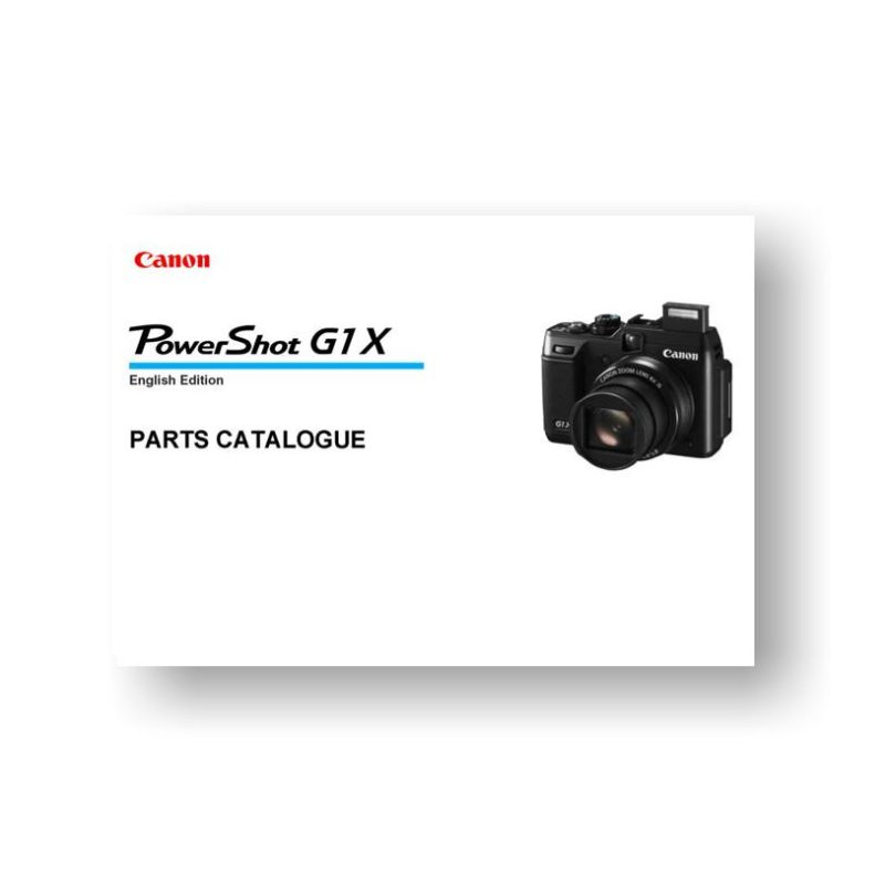 10-page PDF 558 KB download for the Canon G1x Parts Catalog | Powershot