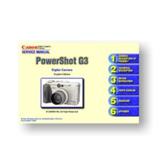 126-page PDF 3.59 MB dowload for the Canon G3 Service Manual Parts Catalog | Powershot