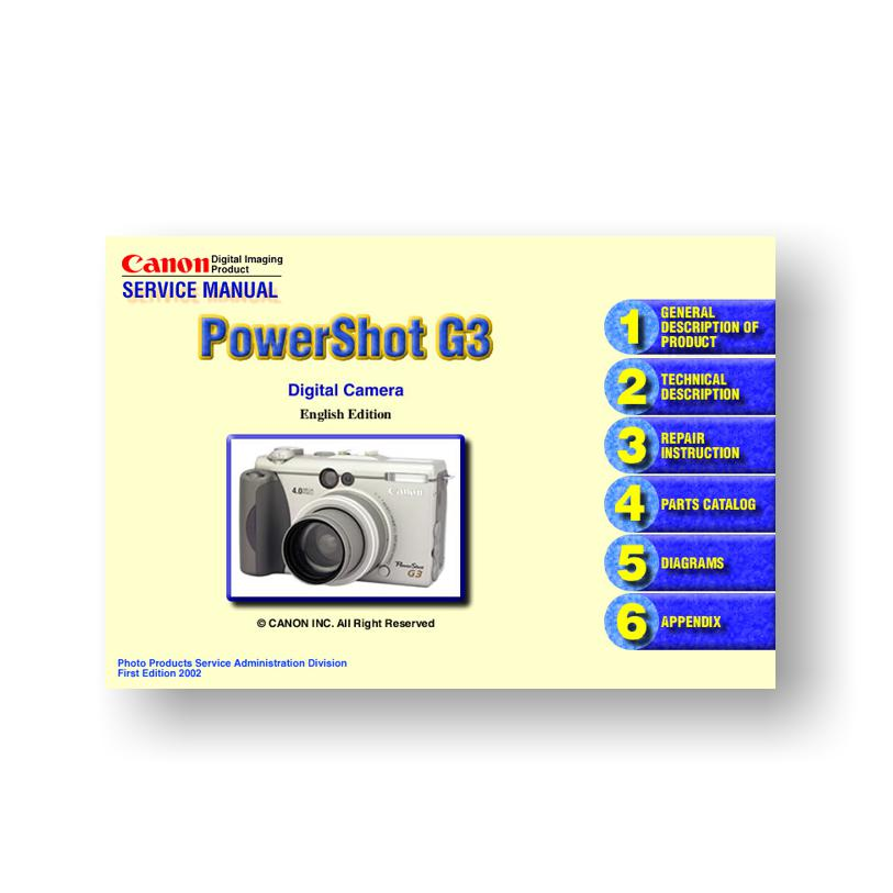 Powershot g3 support download drivers, software and manuals.