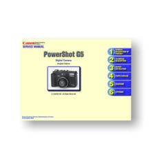 Canon PowerShot G5 Service Manual Parts List Download