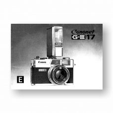 Canon Canonet QL 17 G-III Owners Manual