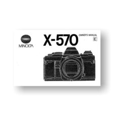 Minolta X-570 Owners Manual Download
