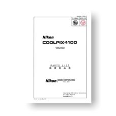 16-page PDF 1.02 MB download for the Nikon Coolpix 4100 Parts List   Digital Compact Camera
