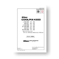 65-page PDF 6.33 MB download for the Nikon Coolpix 4300 Repair Manual Parts List | Digital Compact