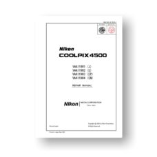 65-page PDF 6.92 MB download for the Nikon Coolpix 4500 Repair Manual Parts List | Digital Compact
