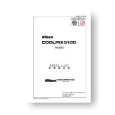 15-page PDF 903 KB download for the Nikon Coolpix 5100 Parts List | Digital Compact Cameras