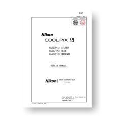 11-page PDF 887 KB download for the Nikon Coolpix S9 Parts List | Digital Cameras