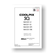 15-page PDF 101 MB download for the Nikon Coolpix SQ Parts List | Digital Cameras