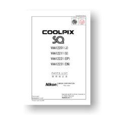 Nikon Coolpix SQ Parts List Download