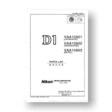 Nikon D1 Parts List Download