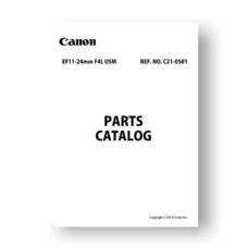 Canon EF 11-24 4L USM Parts List Download