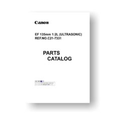 Canon EF 135 2.0L (Ultrasonic) Parts List Download
