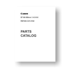 10-page PDF 509 KB download for the Canon C21-0162 Parts Catalog | EF 90-300 4.5-5.6