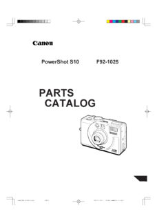Canon PowerShot S10 Parts List Download