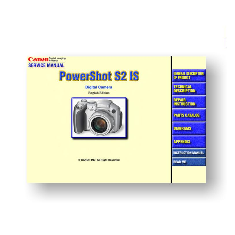 canon powershot s2 is service manual parts list download rh uscamera com canon powershot s2 is repair manual Canon PowerShot Is S2 Parts