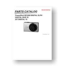 19 page PDF 1.25 MB download for the Canon SD1000 Parts List | PowerShot