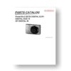 Canon PowerShot SD750 Service Manual Parts List Download