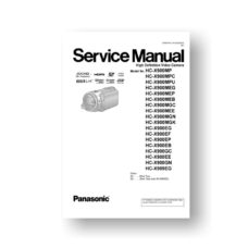 Panasonic HC-X900MPC Service Manual Download