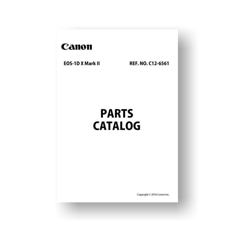 Canon EOS-1D X Mark II Parts List Download