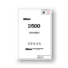 Nikon D500 Parts List Download