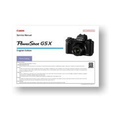 Canon PowerShot G5x Parts List Download