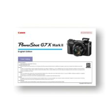 Canon PowerShot G7x Mark II Parts List Download