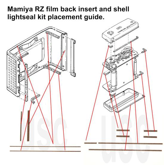 Mamiya RZ Pro Film Back Insert Shell Seal Kit
