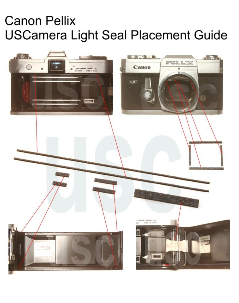 USCamera Light Seal Placement Guide | Canon Pellix