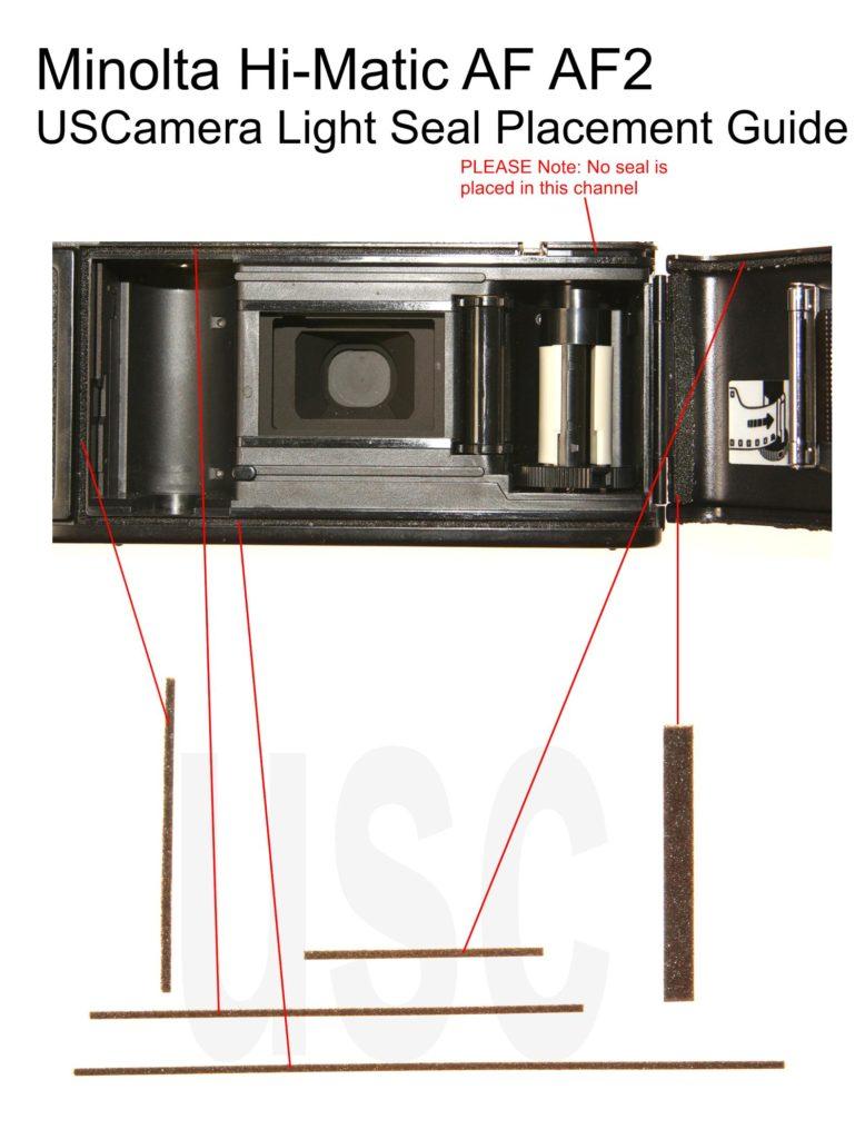 USCamera Light Seal Placement Guide   Minolta Hi-Matic AF Kit