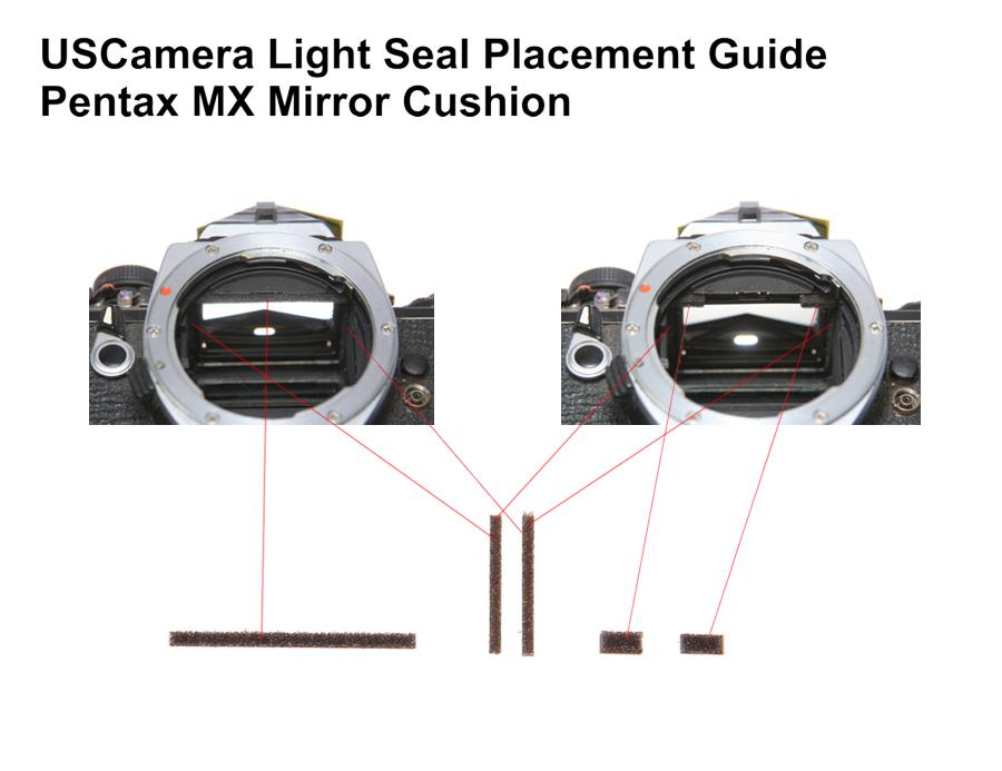USCamera Light Seal Placement Guide | Pentax MX