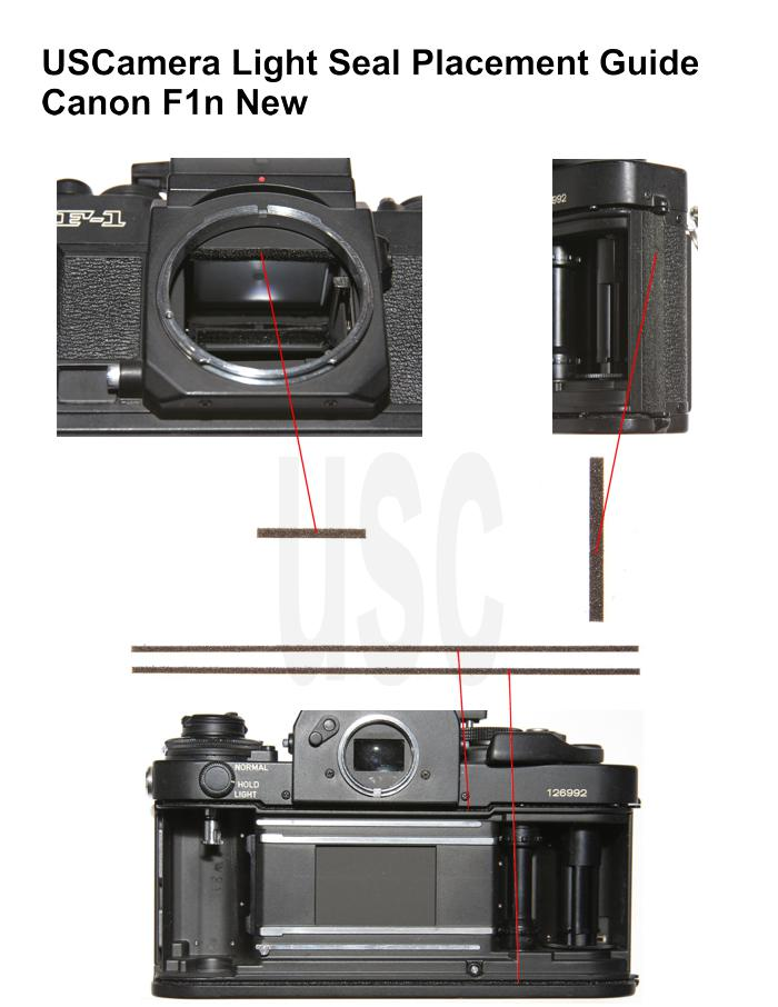 USCamera Light Seal Placement Guide | Canon F1n New
