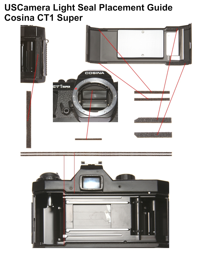 USCamera Light Seal Placement Guide | Argus Cosina CT1 Super