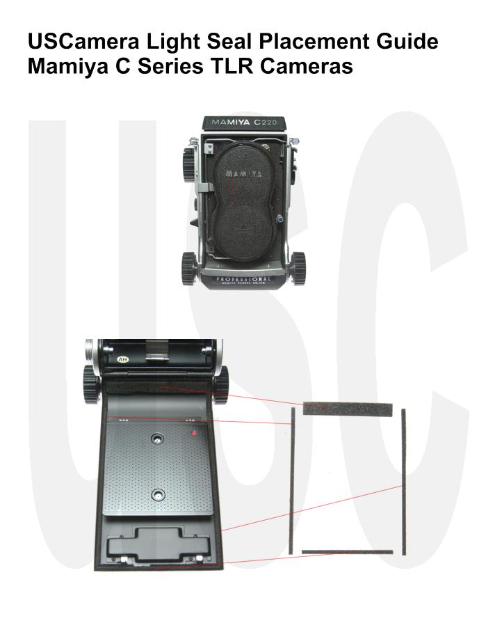 USCamera Light Seal Placement Guide | Mamiya C220 C330