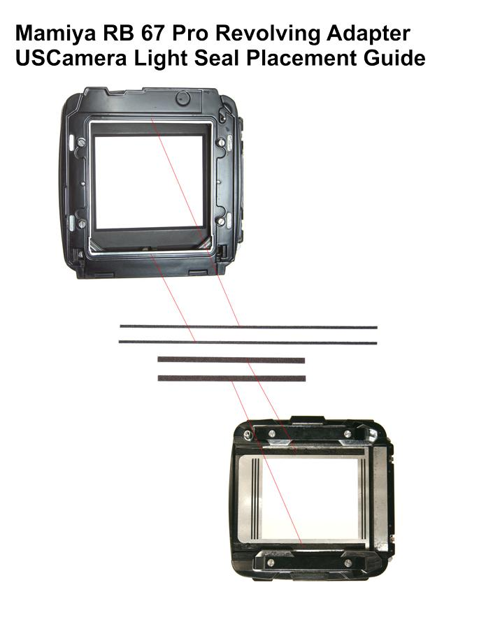 USCamera Light Seal Placement Guide | Mamiya RB 67 Pro R Adapter