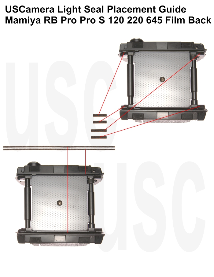 USCamera Light Seal Placement Guide | Mamiya RB Film Back