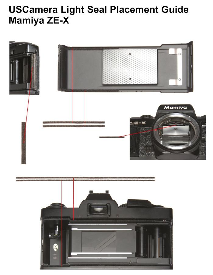 USCamera Light Seal Placement Guide | Mamiya ZE ZE-2 ZE-X