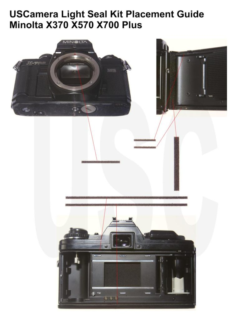 USCamera Light Seal Placement Guide | Minolta X700