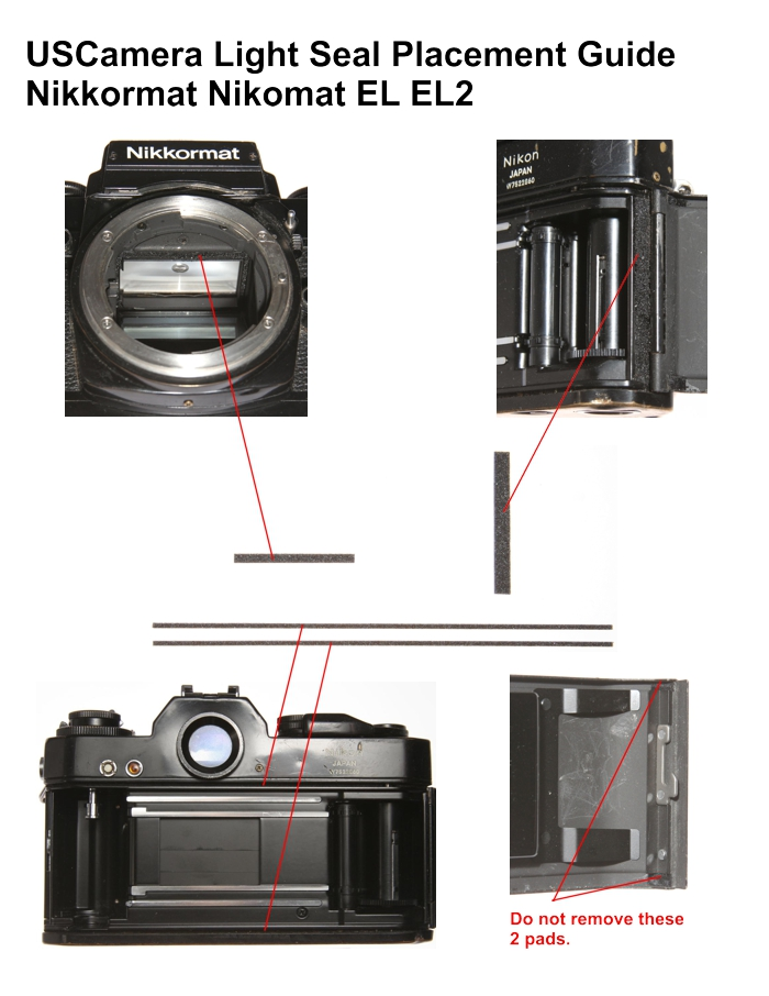USCamera Light Seal Placement Guide | Nikkormat EL EL2
