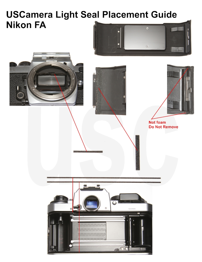 USCamera Light Seal Placement Guide | Nikon FA
