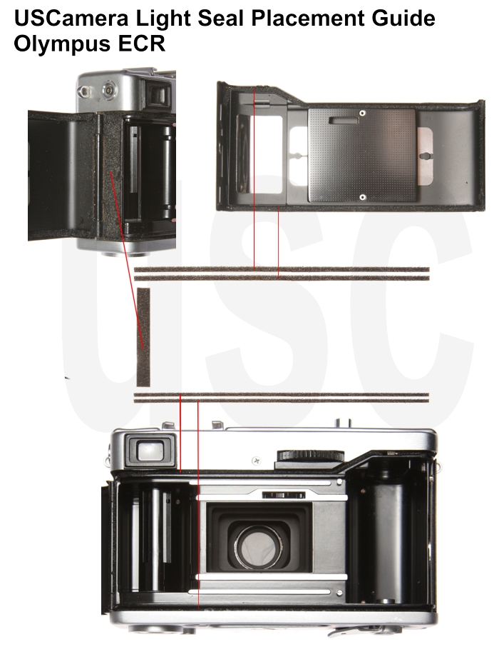 USCamera Light Seal Placement Guide | Olympus 35 ECR