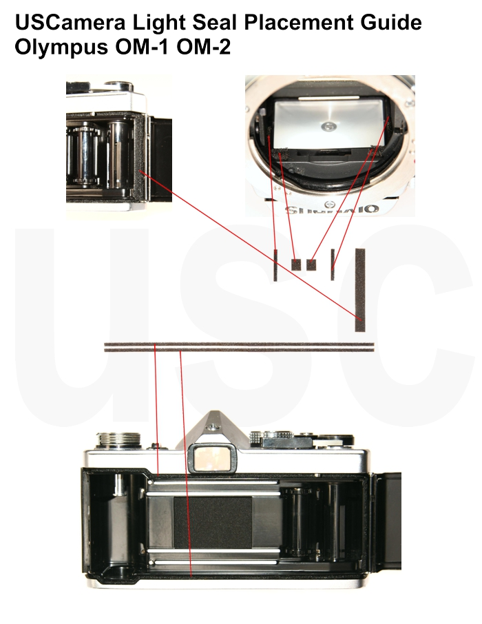 USCamera Light Seal Placement Guide | Olympus OM1 OM2