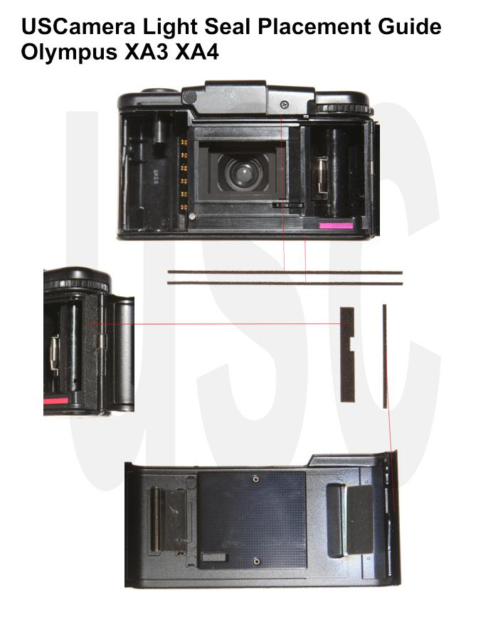 USCamera Light Seal Placement Guide | Olympus XA3 XA4