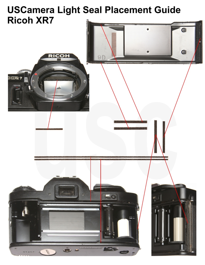 USCamera Light Seal Placement Guide   Ricoh XR7 Plus